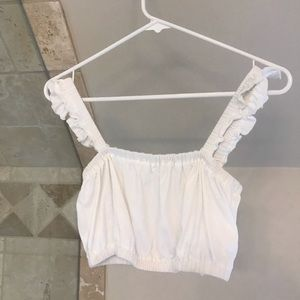 Aritzia (Wilfred) white tube top size: xxs